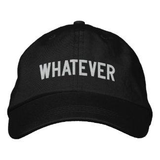 Boné Bordado O QUE chapéu