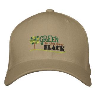 Boné Bordado O verde é preto novo