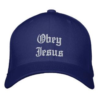 Boné Bordado Obedeça Jesus