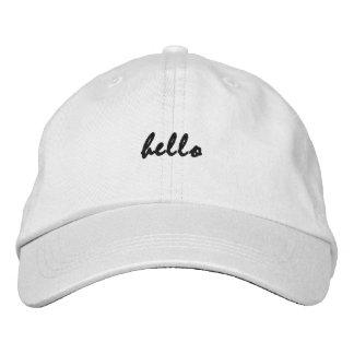 "Boné Bordado ""Olá!"" chapéu bonito do desenhista"