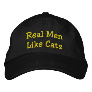Boné Bordado Os homens reais gostam de gatos