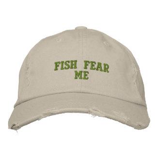 Boné Bordado Os peixes temem-me