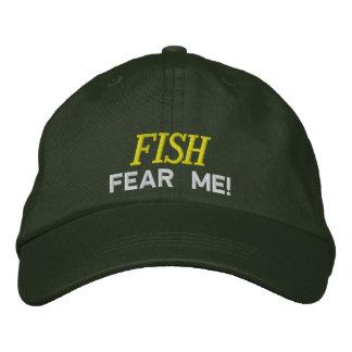 Boné Bordado Os peixes temem que eu borde o chapéu