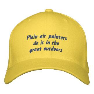 Boné Bordado Os pintores do ar de Plein fazem-no no excelente