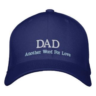 Boné Bordado Pai uma outra palavra para o chapéu do amor