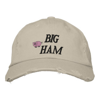 Boné Bordado Presunto grande chapéu bordado