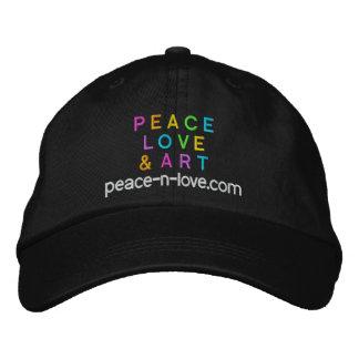 Boné Bordado Preto do promocional da paz, do amor & da arte