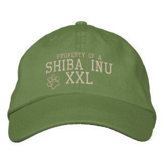 Boné Bordado Propriedade de um chapéu bordado Inu de Shiba