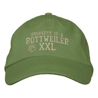 Boné Bordado Propriedade de um chapéu bordado Rottweiler