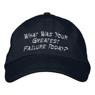 Boné Bordado Que era sua grande falha hoje?