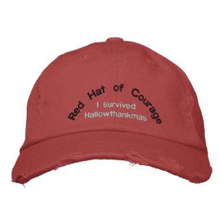 Boné Bordado Red Hat da coragem eu sobrevivi a Hallowthankmas