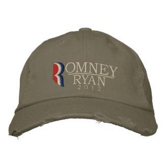 Boné Bordado Romney/o vintage 2012 Grunge de Ryan bordou o
