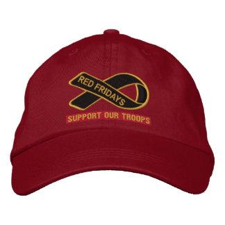 Boné Bordado Sextas-feiras vermelhas apoiam nosso chapéu