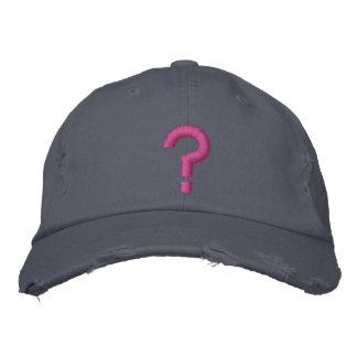 Boné Bordado ? Símbolo bordado ponto de interrogação no chapéu