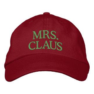 Boné Bordado Sra. Claus