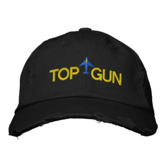 Boné Bordado Top Gun bordou o chapéu