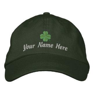 Boné Bordado Trevo irlandês e seu nome