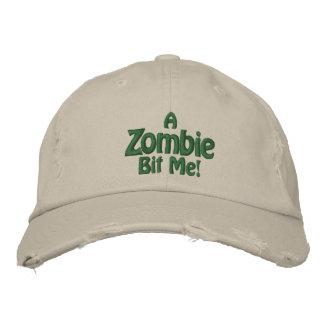 Boné Bordado Um zombi mordeu-me! Chapéu de pedra afligido