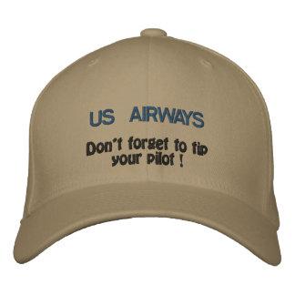 Boné Bordado US AIRWAYS, não esquece derrubar seu piloto!