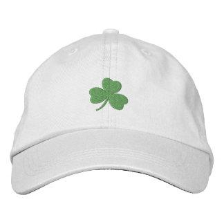 Boné Bordado Verde afortunado do irlandês do trevo