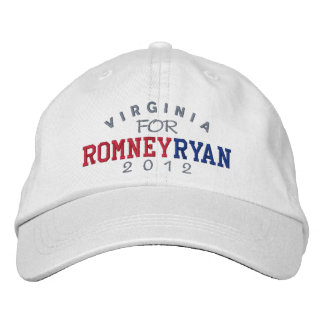 Boné Bordado Virgínia Mitt Romney Paul Ryan 2012