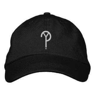 Boné Bordado Y? - Preto do chapéu do símbolo (as cores são