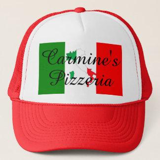 Boné Bota italiana da bandeira do chapéu da pizaria do