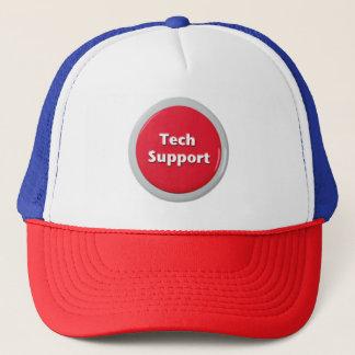 Boné Botão de pânico vermelho do suporte técnico