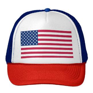 Boné branco azul vermelho patriótico do chapéu da