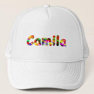 Boné branco da malha para Camila