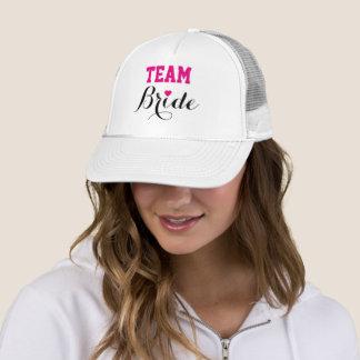 Boné Branco do chapéu do camionista do coração do rosa