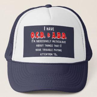 Boné Branco/vermelho de OCD-ADD