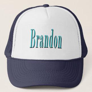 Boné Brandon, logotipo azul do nome,