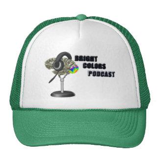 Boné brilhante da malha do Podcast das cores