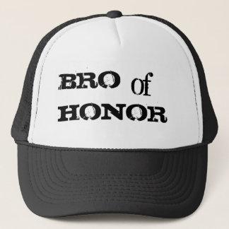 Boné Bro do chapéu negro do padrinho de casamento do