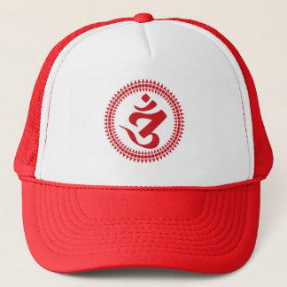Boné budista do símbolo do OM do roteiro de