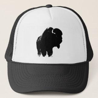 Boné Búfalo preto & branco do bisonte do pop art