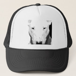 Boné Bull terrier preto e branco
