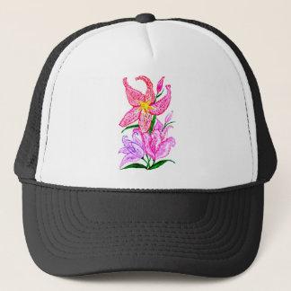Boné Buquê de flores do lírio