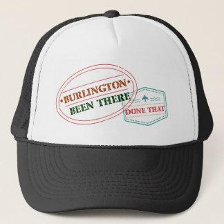 Boné Burlington feito lá isso