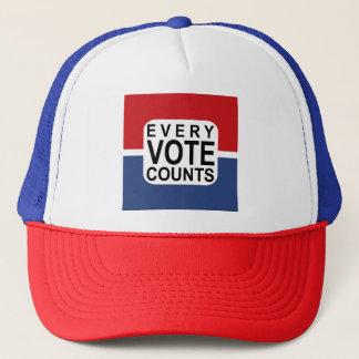 Boné Cada voto conta o chapéu