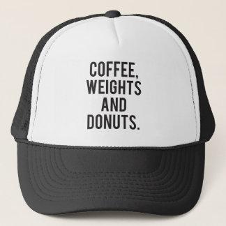 Boné Café, pesos e rosquinhas - Gym engraçado da