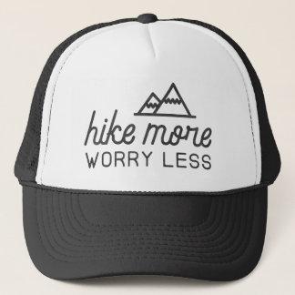 Boné Caminhe mais, preocupe menos chapéu do camionista