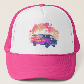 Boné camionete retro do hippie do grunge