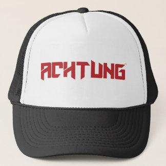 Boné Camionista preto do grupo de Achtung