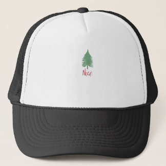 Boné Camisa agradável do Natal - árvore de Natal