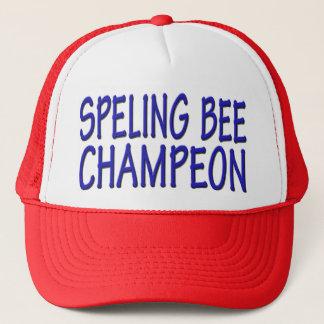 Boné Campeão do concurso de ortografia