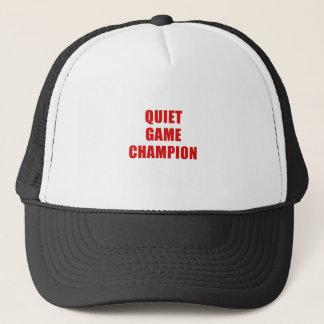 Boné Campeão do jogo quieto