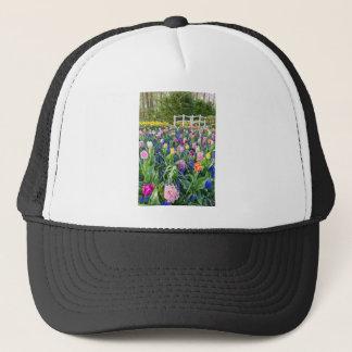 Boné Campo de flores com jacintos e ponte das tulipas