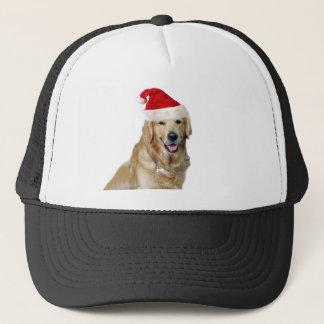 Boné Cão-animal de estimação do cão-papai noel de claus